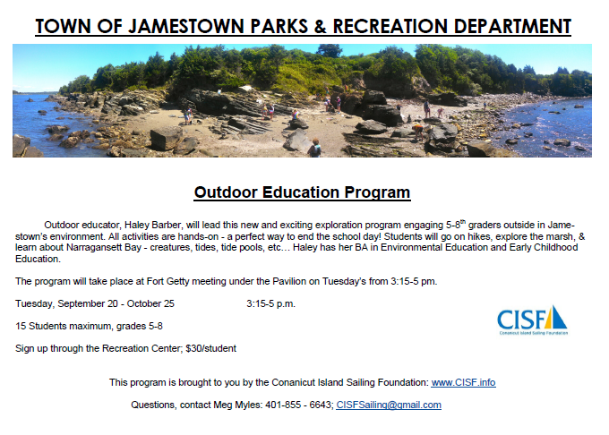 New Outdoor Program for Middle School Students