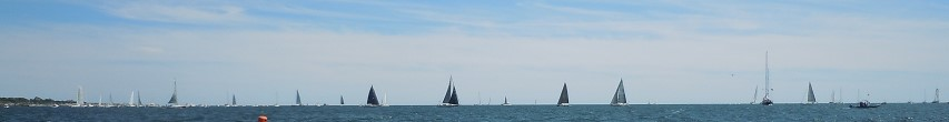 Sailboats horizon
